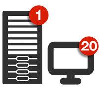 Retrospect Single Server 20 Workstation Clients v.13 for Mac - v13