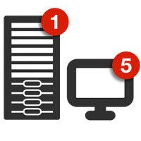 Retrospect Single Server (Disk-to-Disk) 5 Workstation Clients v.11 for Windows w/ 1 Yr Support & Maintenance (ASM) - v11